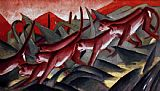 Franz Marc Affenfries painting