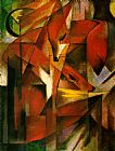 Franz Marc Foxes painting