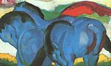 Franz Marc The Little Blue Horses painting