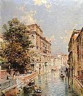 Franz Richard Unterberger - A View in Venice, Rio S. Marina