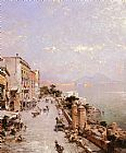 Franz Richard Unterberger - A View of Posilippo, Naples