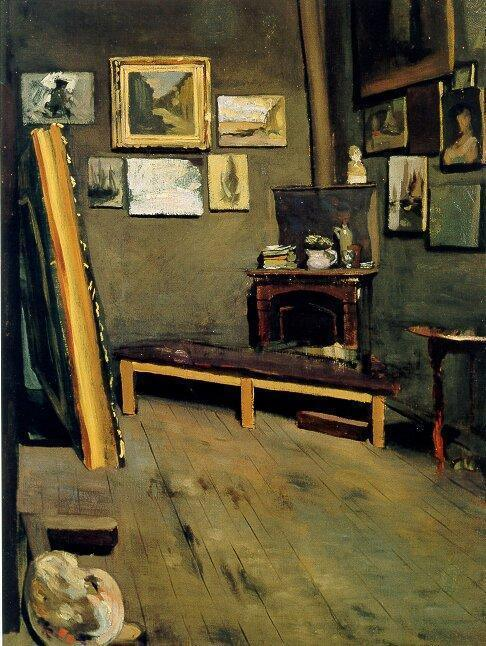 Frederic Bazille Studio of the Rue Visconti