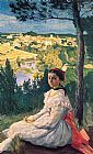 Frederic Bazille View of the Village painting