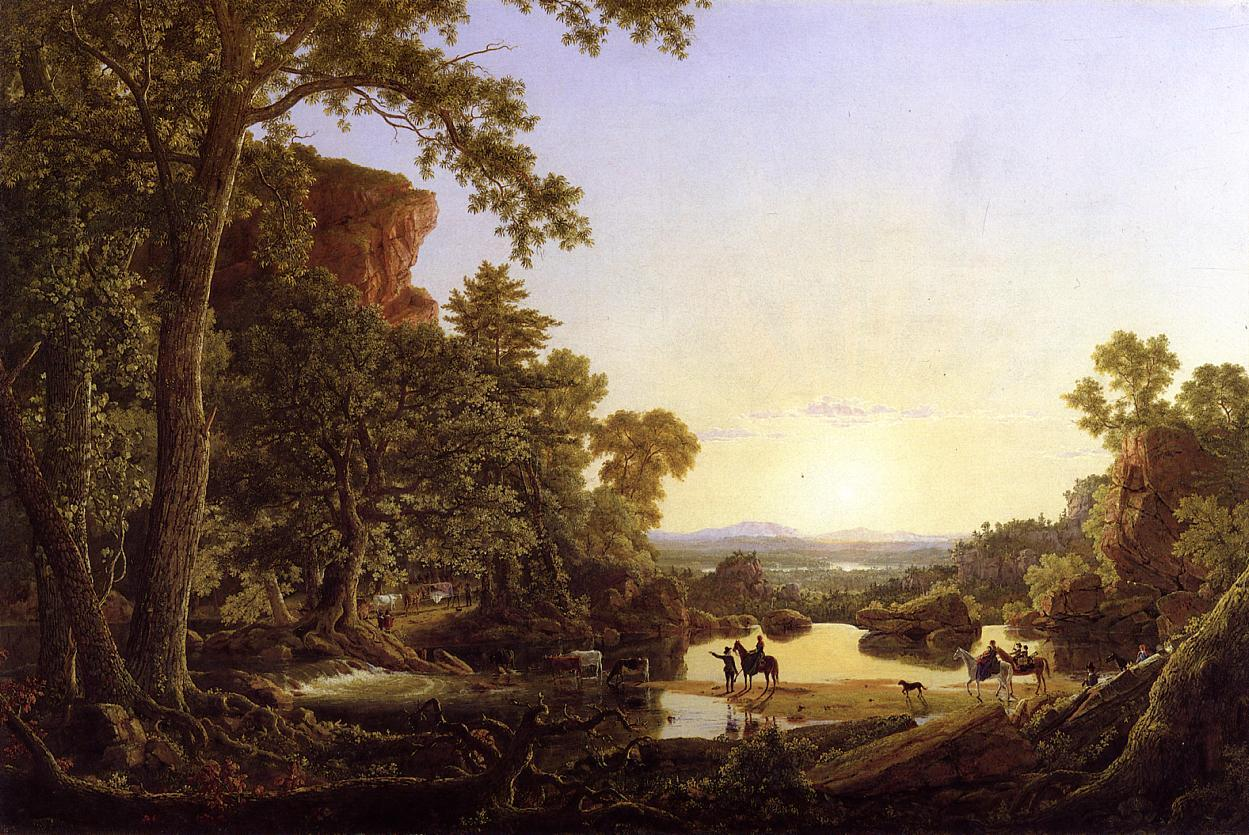 Frederic Edwin Church Hooker and Company Journeying through the Wilderness from Plymouth to Hartford