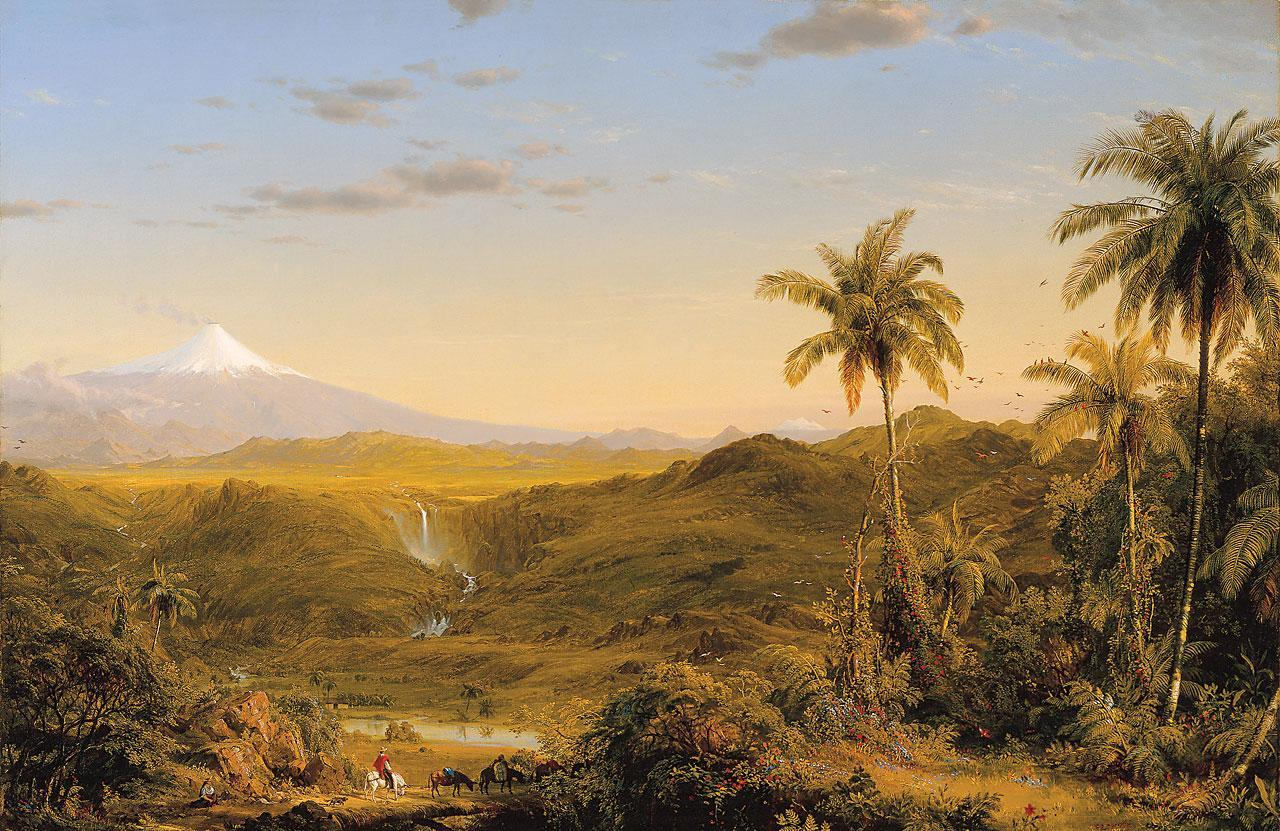 New England Landscape by Frederick Edwin Church Giclee Reproduction on Canvas