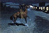 Frederic Remington - An Arguement with the Town Marshall