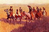 Frederic Remington An Assault on His Dignity painting