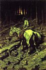 Frederic Remington Apache Fire Signal painting