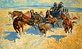 Frederic Remington Downing the Night Leader painting