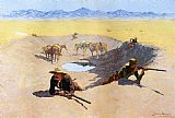 Frederic Remington Fight for the Water Hole painting