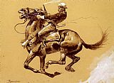 Frederic Remington Ugly Oh The Wild Charge He Made painting