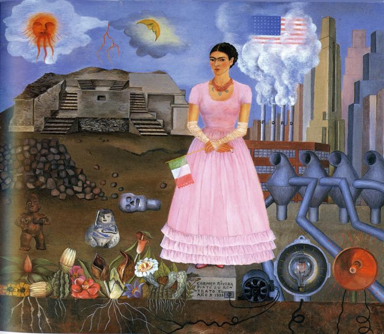 Frida Kahlo FridaKahlo-Self-Portrait-on-the-Border-Line-Between-Mexico-and-the-United-States-1932