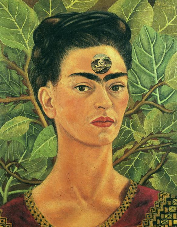 Frida Kahlo Thinking about Death