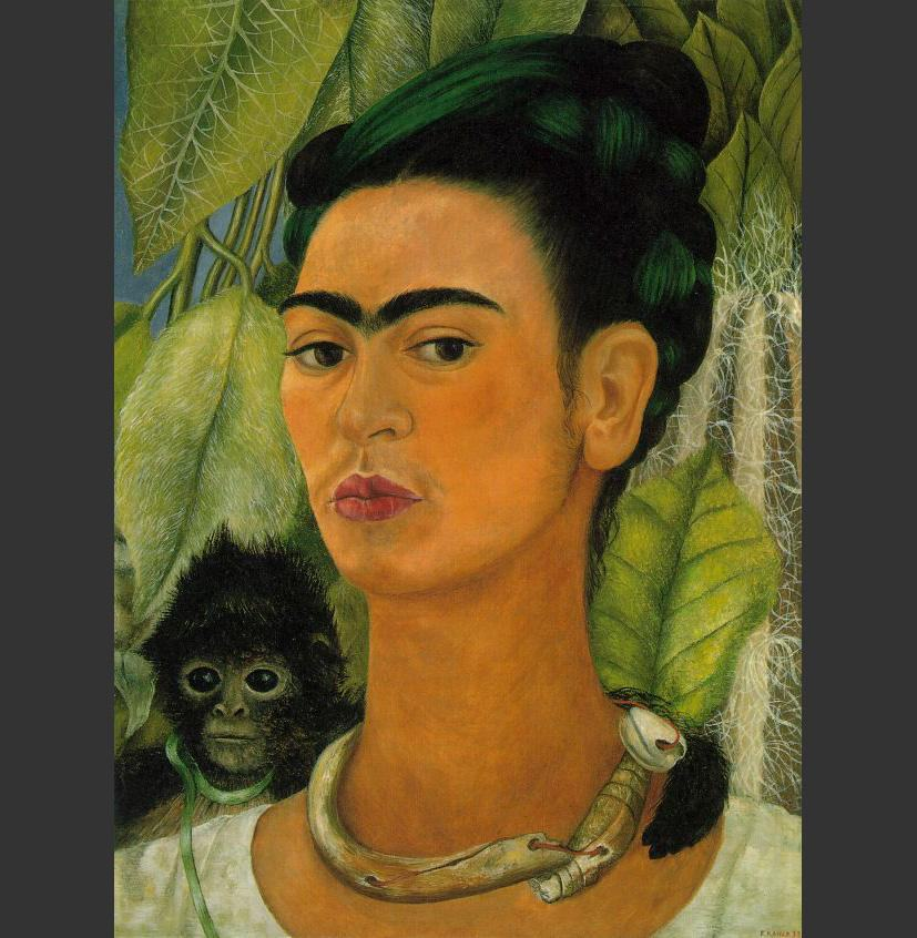 Frida Kahlo daKahlo-Self-Portrait with Monkey 1938