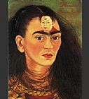 Frida Kahlo Canvas Paintings - Diego and I
