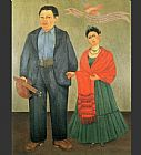 vera Canvas Paintings - Frida and Diego Rivera
