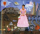 Famous Portrait Paintings - FridaKahlo-Self-Portrait-on-the-Border-Line-Between-Mexico-and-the-United-States-1932