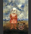 Frida Kahlo Famous Paintings - Girl with Death Mask