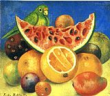 Frida Kahlo Famous Paintings - Still Life with Parrot