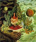 Frida Kahlo Wall Art - The Love Embrace of the Universe the Earth Mexico Me Diego and Mr Xolotl