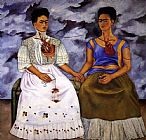 Frida Kahlo Wall Art - The Two Fridas