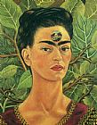 Frida Kahlo Wall Art - Thinking about Death