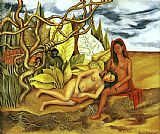 Frida Kahlo Wall Art - Two Nudes in the Forest