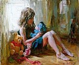 Garmash Canvas Paintings - Among Friends