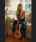 Garmash Famous Paintings - Guitar Play