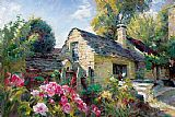 Garmash Famous Paintings - La Maison De Provence