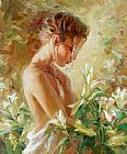 Garmash Famous Paintings - Lost in Lilies