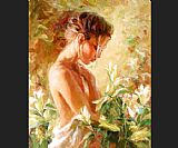 Garmash Canvas Paintings - Lost in Lillies