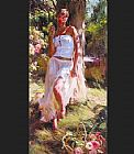 Garmash Canvas Paintings - Quiet Moment