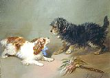 King Canvas Paintings - King Charles Spaniel & Terrier
