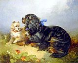 George Armfield - King Charles Spaniel and a Terrier