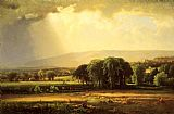 war Canvas Paintings - Harvest Scene in the Delaware Valley