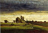 George Inness Landscape with Farmhouse painting