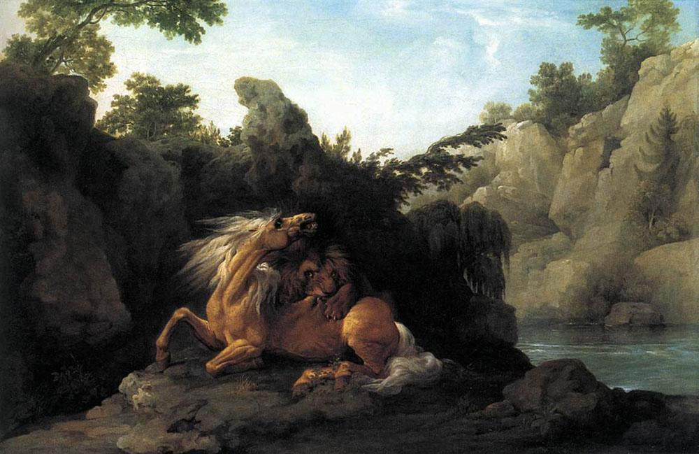 George Stubbs Lion Devouring a Horse