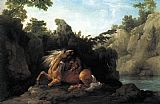Famous Horse Paintings - Lion Devouring a Horse