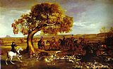 Famous Hunt Paintings - The Grosvenor Hunt