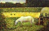 Georges Seurat - Landscape with a Horse