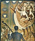 Georges Seurat Le Chahut painting