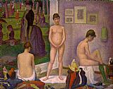 Georges Seurat The Models painting