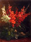 Geraldine Jacoba Van De Sande Bakhuyzen - A Still Life With Gladioli And Roses