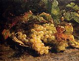Autumn Treasures Grapes In A Wicker Basket