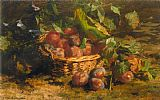 Geraldine Jacoba Van De Sande Bakhuyzen - Still life with Plums in a Basket