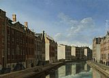 Van Canvas Paintings - Berckheyde De bocht van de Herengracht