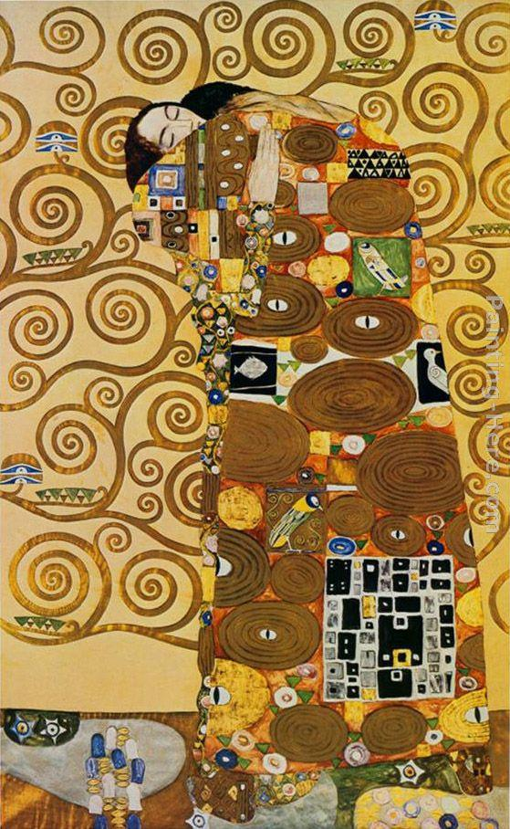 Gustav klimt fulfillment stoclet frieze painting framed for Gustav klimt original paintings for sale