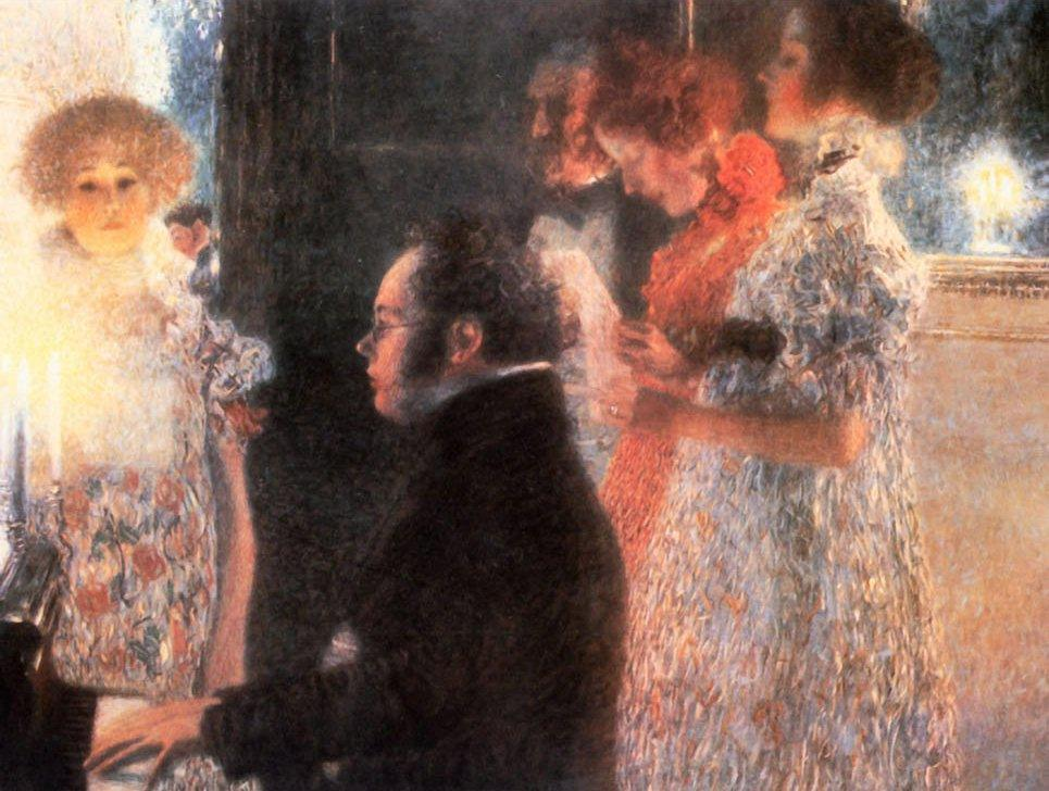 Gustav Klimt Schubert at the Piano