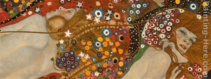 Gustav Klimt Water Serpents Detail